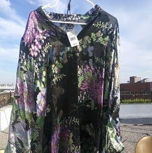 Citron of Santa Monica Kimono Style Blouse NWT